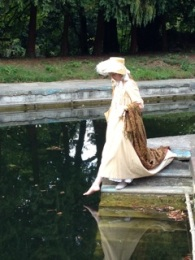 Jane Austen promenader Amy Nicole Banner dips a toe!