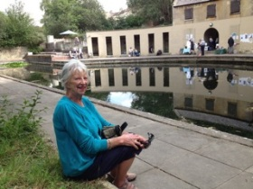 Jenny Wyatt sits in the spot where she was proposed  to in 1963!