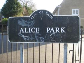 The Alice Park sign.