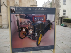 The outdoor exhibition board featuring Sidney Horstman.