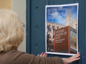 A spot of promotional work for the exhibition at Bath's Tourist Information Centre
