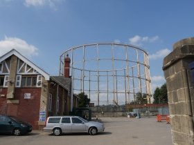 The framework to Bath's last gas holder.