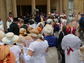 Filing into the Assembly Rooms. Click on images to enlarge!