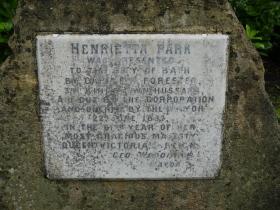 The memorial stone.