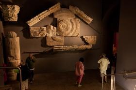 Temple Pediment at Roman Baths. Photographer Freia Turland m:07875514528 e:info@ftphotography.co.uk
