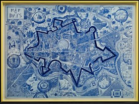 The Map of Days work by Grayson Perry - acquired by Bath's Victoria Art Gallery.