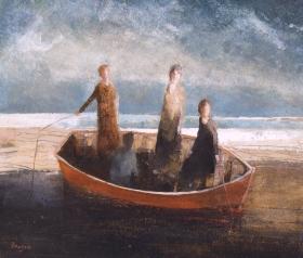 Four fisherwomen by David Brayne.