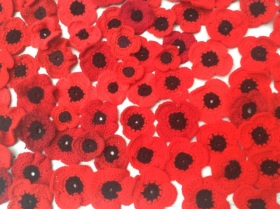 poppies knitted