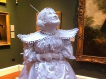 Panto man on a plinth at Holburne Museum