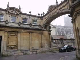 The archway linking Roman Baths with proposed Education Centre.