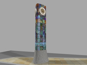 An imagined look for the new town clock. Artist, Sebastien Boyesen wants to make sure people understand that the design of the clock face has not been finalised yet! 'That's going to be down to a public vote after we have looked at various choices in more detail' he said..