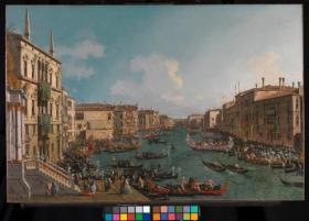 'A Regatta on the Grand Canal' by Canaletto. © National Gallery