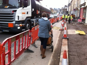 The lady with a pushchair says it all.