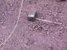 Electricity cables just under the surface are going to make it difficult to get new paving stones flush.