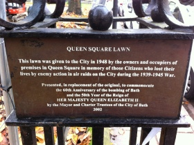 The notice which says the Lawn was given to the PEOPLE of Bath.