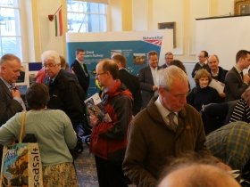 People at this week's Network Rail consultation held at Bath Guildhall.