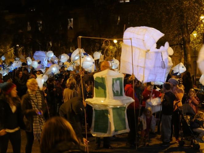 Magic night of lanterns andlight.