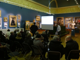 The gathering at the Victoria Art Gallery