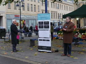 Collecting signatures in Kingsmead Square