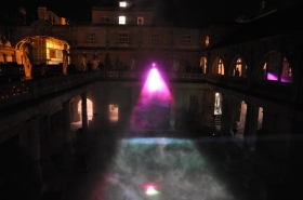 Lighting up the Roman Baths back in 2012