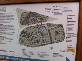 Public 'map' of Botanic Gardens