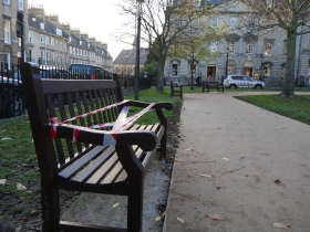 Old benches return with a new staining