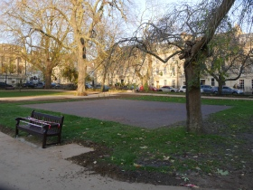 One of the newly coated boules playing areas.