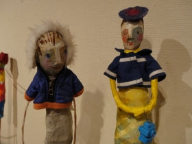 Detail of some of Edwina's colourful characters.