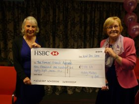 Organiser, Angela Calvert Jones and Sue Tucker, from Forever Friends, with that bumper cheque!