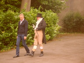 Martin goes 'walkies' with comedian and impersonator Rory Bremner