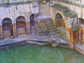 The King's Bath or original sacred spring of the Romans.