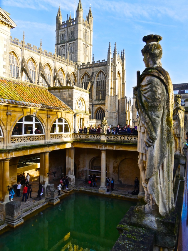 The Great Bath - part of the  Roman bathing complex built around the thermal waters.