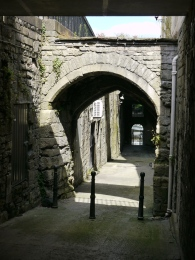 The way down to the river via the old East Gate