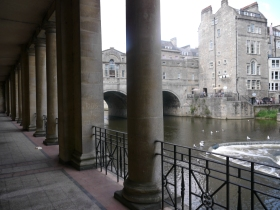 The view from the Colonnades