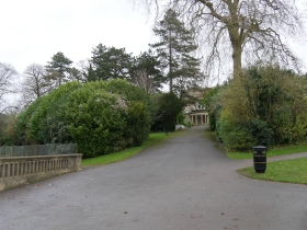The central path - looking up to the Loggia