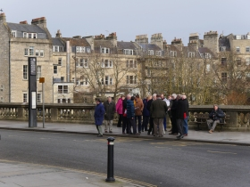 The group are picture on Grand Parade.