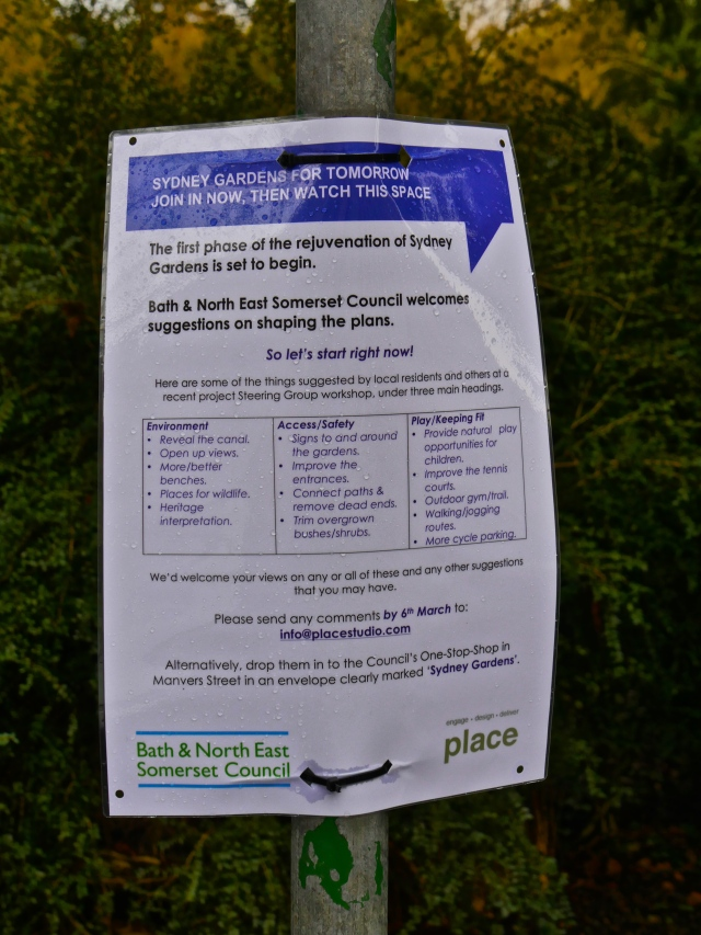 Look out for the posters dotted around Sydney Gardens