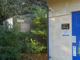 New and old loos standing side by side