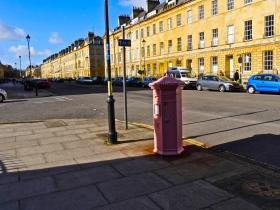 Pulteney Street's pink pillarbox.