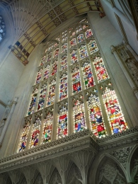 The East Window in all its colourful glory.