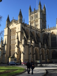 The east end of Bath Abbey