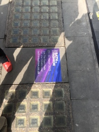 The pavement posters appearing around Bath.