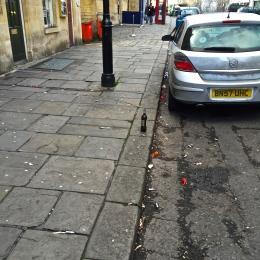 Party litter in Walcot Street