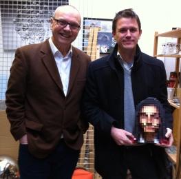 Me and artist Luke Jerram.