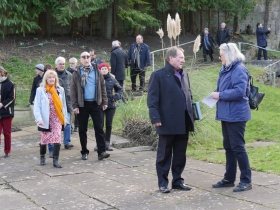 Bath's Mayor, Cllr Cherry Beath - on the left - leads the visiting group on a tour of the facilities.
