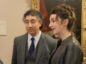 Charlotte with her husband - artist Saied Dai.