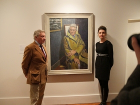 Don McCullin and Charlotte Sorapure - wither side of her portrait.