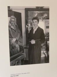 The [photograph Don McCullin took of Charlotte - while painting his portrait.