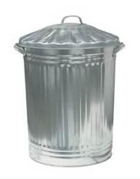 The traditional rubbish bin.