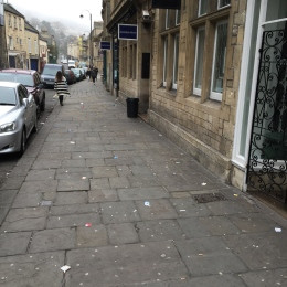 Litter that is no laughing matter for the traders of Walcot Street